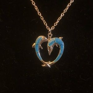 Heart Shaped Dolphin Necklace
